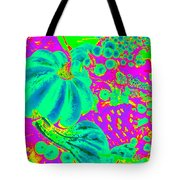 Autumn Harvest In Green And Purple - Pop Art Tote Bag