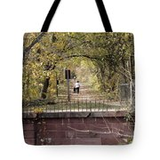 Autumn Hike On The C And O Canal Towpath At Seneca Creek Tote Bag