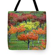 Autumn Hillside Orchard Tote Bag