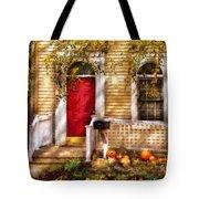 Autumn - House - A Hint Of Autumn  Tote Bag