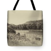 Autumn In Montana In Heirloom Finish Tote Bag