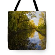 Autumn In Morrisville Pa Along The Delaware Canal Tote Bag