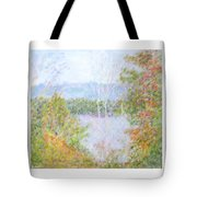 Autumn By The Lake In New Hampshire Tote Bag