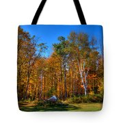 Autumn In North River New York Tote Bag