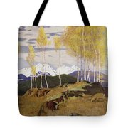 Autumn In The Mountains Tote Bag by Adrian Scott Stokes
