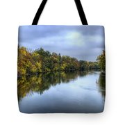 Autumn In The River Tote Bag