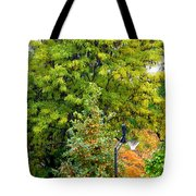 Autumn In The Suburbs Tote Bag