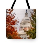 Autumn In The Us Capitol Tote Bag