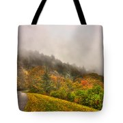 Autumn Just Around The Bend Blue Ridge Parkway In Nc Tote Bag