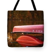 Autumn Kayaks On Newport Lake Tote Bag