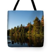 Autumn Lake In The Forest - Reflection Tranquility Tote Bag