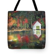 Autumn - Lake - Reflecton Tote Bag