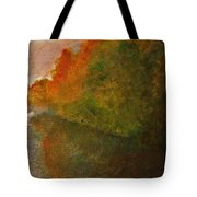 Autumn Lake View  Tote Bag