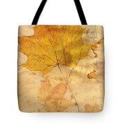 Autumn Leaf In Grunge Style Tote Bag