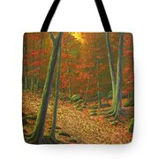 Autumn Leaf Litter Tote Bag