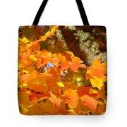 Autumn Leaves Art Print Yellow Orange Tote Bag