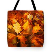 Autumn Leaves Oil Tote Bag