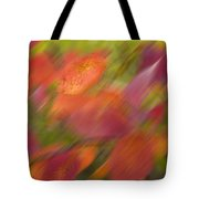 Autumn Leaves On The Abstract Background Tote Bag