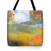Autumn Leaves Panel 2 Of 2 Tote Bag