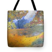 Autumn Leaves Panel1 Of 2 Panels Tote Bag