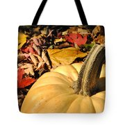 Autumn Leaves With Pumpkin Tote Bag