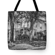 Autumn Mansion 4 - Paint Bw Tote Bag