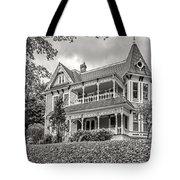 Autumn Mansion Bw Tote Bag