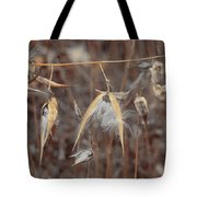Autumn Milkweed Tote Bag