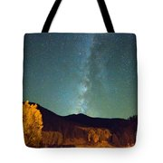 Autumn Milky Way Tote Bag