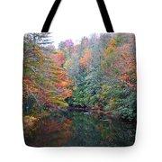Autumn Mountain Stream Tote Bag
