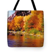Autumn Oak Creek  Tote Bag