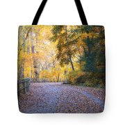 Autumn On Forbidden Drive Tote Bag