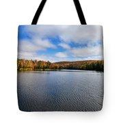 Autumn On Lake Plumbago Tote Bag