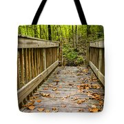Autumn On The Bridge Tote Bag by Parker Cunningham