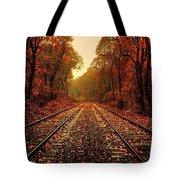 Autumn On The Tracks Tote Bag