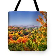 Autumn Over The Rolling Hills Tote Bag