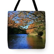 Autumn Paddle On The Quinnebaug  Tote Bag