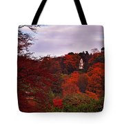Autumn Pagoda Tote Bag
