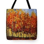 Autumn Palette Tote Bag by Vickie Warner