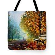 Autumn Park - Palette Knife Oil Painting On Canvas By Leonid Afremov Tote Bag