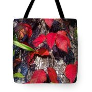 Autumn Poison Ivy Tote Bag