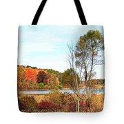 Mendon Ponds In Autumn Tote Bag