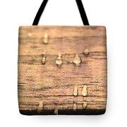 Autumn Rain On Wood Tote Bag