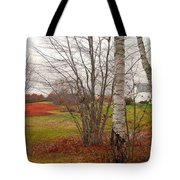 Autumn Red Field Maine  Tote Bag