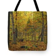 Autumn Red Was Blood Red Tote Bag