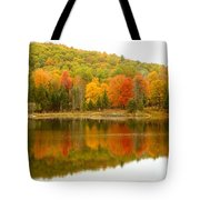 Autumn Reflection Panoramic View Tote Bag