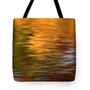 Autumn Reflections In Pond Tote Bag