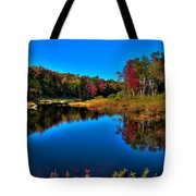 Autumn Reflections In The Adirondacks Tote Bag