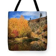 Autumn Reflections In The Susan River Canyon Tote Bag