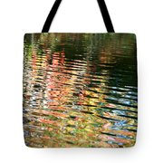 Autumn River Water Reflections  Tote Bag
